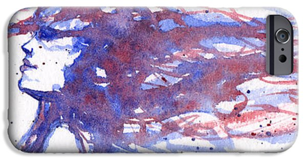 Windblown Paintings iPhone Cases - Windblown Joy iPhone Case by Rebecca Davis