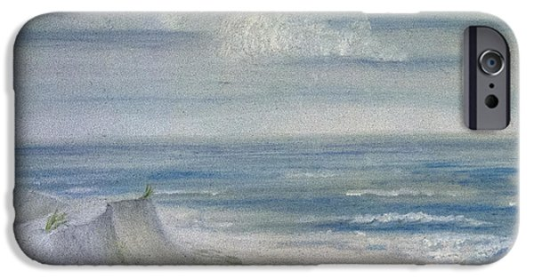 Windblown Paintings iPhone Cases - Windblown iPhone Case by Judy Hall-Folde