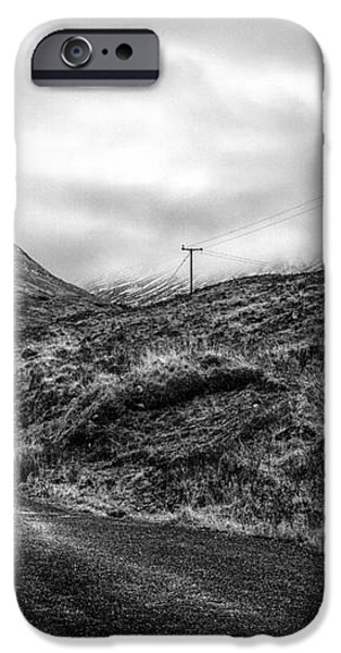 winding road in glen etive iPhone Case by John Farnan