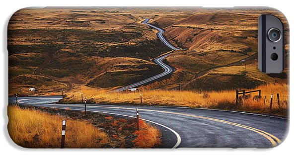 Storm iPhone Cases - Winding Road through the Pacific Northwest iPhone Case by Mountain Dreams