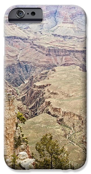 Grand Canyon iPhone Cases - Winding through the Grand Canyon iPhone Case by Lee Craig