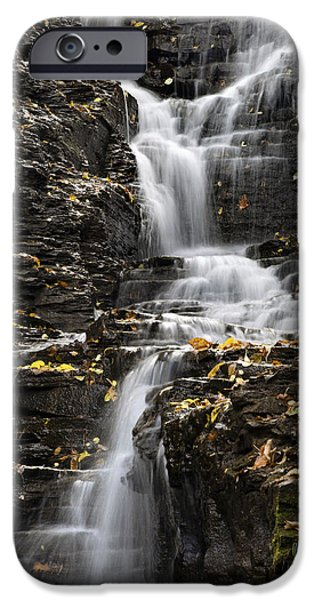 Buttermilk Falls iPhone Cases - Winding Waterfall iPhone Case by Christina Rollo