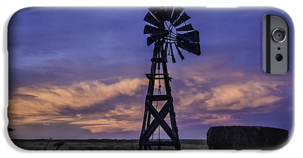 Fort Collins Photographs iPhone Cases - Windmill and Sky iPhone Case by Trish Kusal