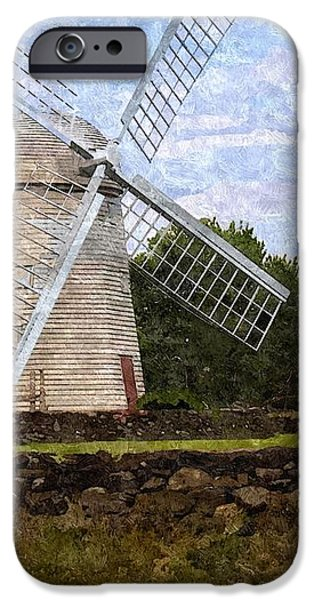 Windmill iPhone Case by Diane Goulart