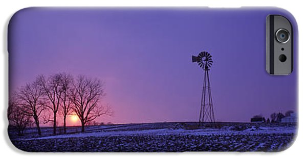 Power iPhone Cases - Windmill In A Field, Illinois, Usa iPhone Case by Panoramic Images