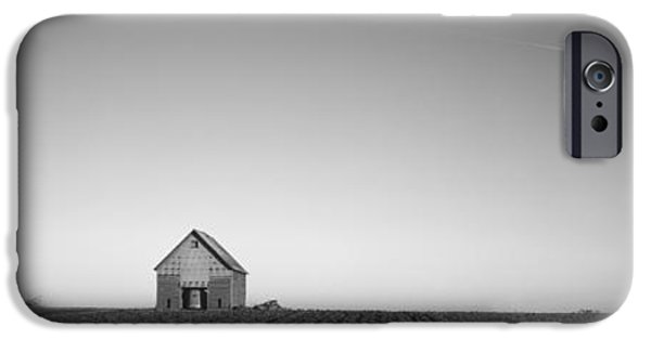 Fuel And Power Generation iPhone Cases - Windmill In A Field Near A Farmhouse iPhone Case by Panoramic Images