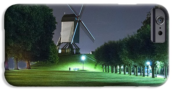 Belgium iPhone Cases - Windmill in Bruges iPhone Case by Juli Scalzi