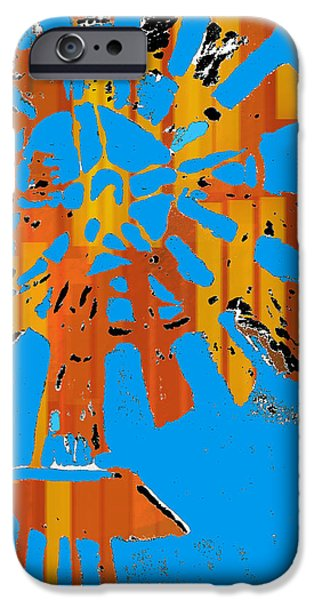 Relief Print iPhone Cases - Windmill of the Sun iPhone Case by Jame Hayes