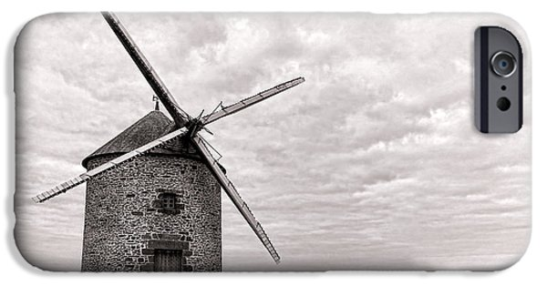Bucolic iPhone Cases - Windmill iPhone Case by Olivier Le Queinec