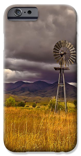 Best Sellers -  - Haybale iPhone Cases - Windmill iPhone Case by Robert Bales