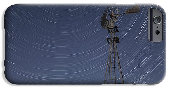 Contour Plowing iPhone Cases - Windmill Stars iPhone Case by Latah Trail Foundation