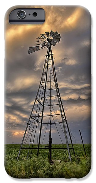 Storm iPhone Cases - Windmill Storm iPhone Case by Thomas Zimmerman