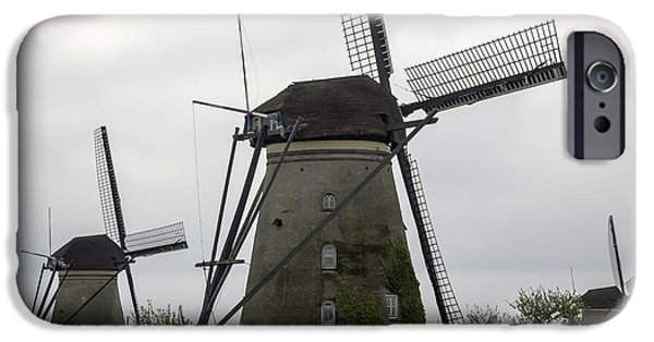 Historic Site iPhone Cases - Windmill Tail Poles Squared iPhone Case by Teresa Mucha