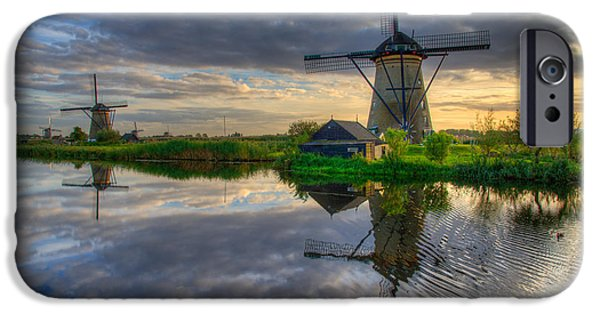 Creek iPhone Cases - Windmills iPhone Case by Chad Dutson