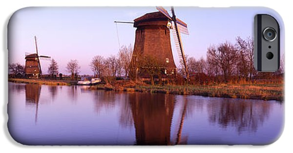 Pastel iPhone Cases - Windmills Schemerhorn The Netherlands iPhone Case by Panoramic Images