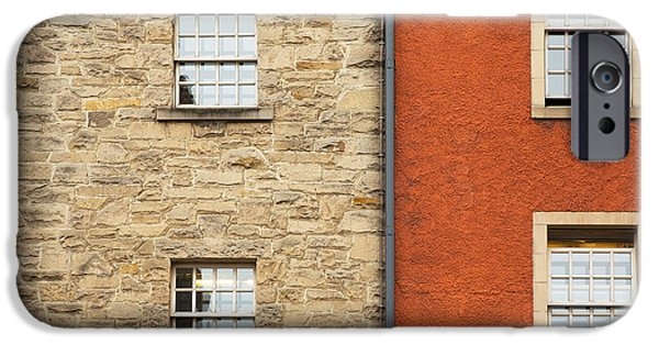 Ledge iPhone Cases - Window detail Edinburgh iPhone Case by Jane Rix