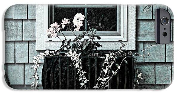 Garden Shed iPhone Cases - Window Dresser iPhone Case by Bonnie Bruno