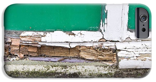 Broken iPhone Cases - Window frame rot iPhone Case by Tom Gowanlock