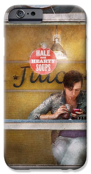 Window - Hoboken NJ - Hale and Hearty Soups  iPhone Case by Mike Savad
