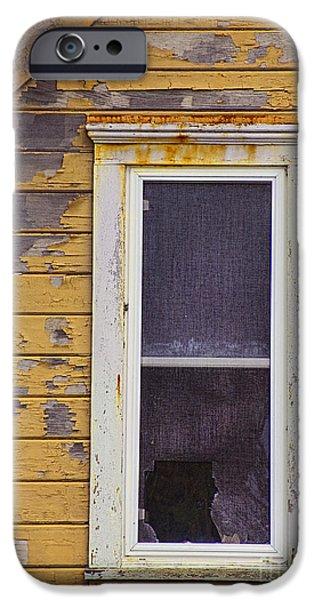 Window in Abandoned House iPhone Case by Jill Battaglia