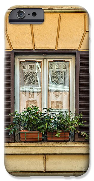 Floral Photographs iPhone Cases - Window in Rome iPhone Case by Sophie McAulay