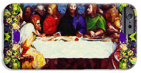 Michaelangelo iPhone Cases - Window Into The Last Supper 20130130m138 iPhone Case by Wingsdomain Art and Photography