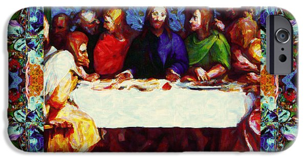 Michaelangelo iPhone Cases - Window Into The Last Supper 20130130p0 iPhone Case by Wingsdomain Art and Photography
