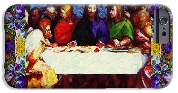 Michaelangelo iPhone Cases - Window Into The Last Supper 20130130p28 iPhone Case by Wingsdomain Art and Photography