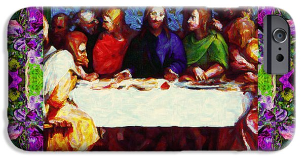 Michaelangelo iPhone Cases - Window Into The Last Supper 20130130p68 iPhone Case by Wingsdomain Art and Photography