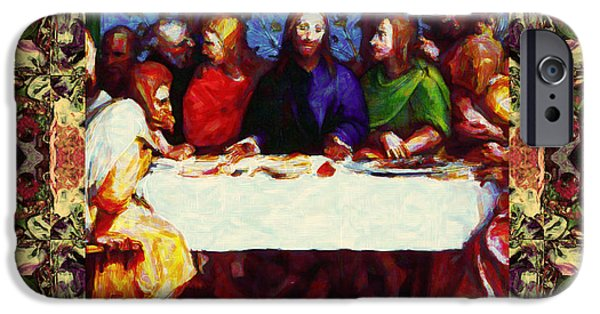 Michaelangelo iPhone Cases - Window Into The Last Supper 20130130sep iPhone Case by Wingsdomain Art and Photography