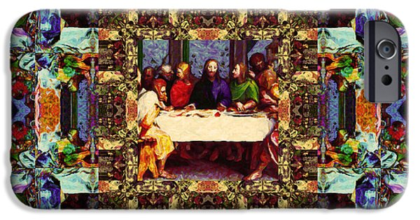 Michaelangelo iPhone Cases - Window Into The Last Supper 20130130v2-horizontal iPhone Case by Wingsdomain Art and Photography