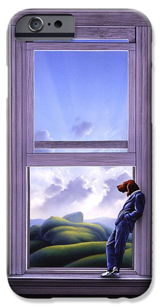 Surreal Landscape iPhone Cases - Window of Dreams iPhone Case by Jerry LoFaro
