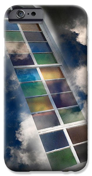 Rollo Digital Art iPhone Cases - Window Of Healing Vision iPhone Case by Christina Rollo