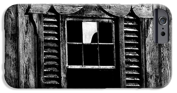 Maryland Barn Photographs iPhone Cases - Window Pane iPhone Case by Robert Geary