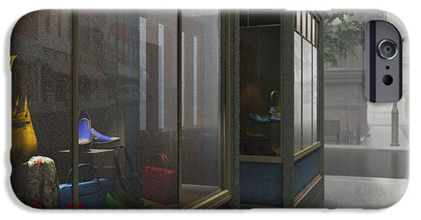 Shop Window iPhone Cases - Window Shopping iPhone Case by Cynthia Decker