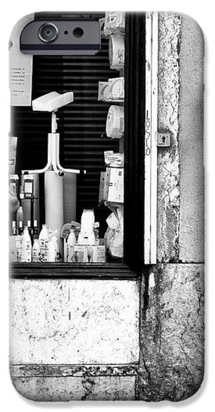 Window Shopping in Lisbon iPhone Case by John Rizzuto