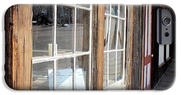 Cabin Window iPhone Cases - Window Shopping iPhone Case by Mark Eisenbeil