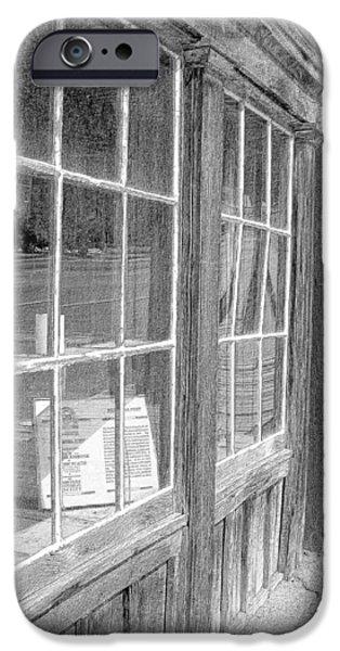 Window Shopping        Pencil iPhone Case by Mark Eisenbeil