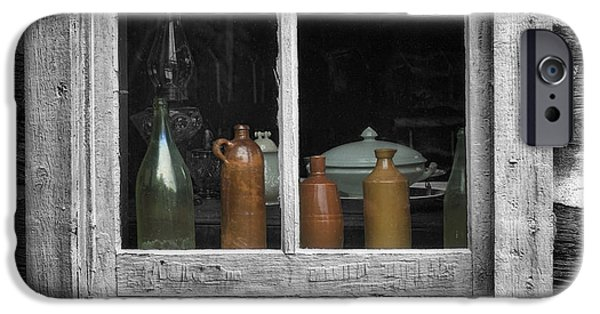 Shed Digital Art iPhone Cases - Window Sill iPhone Case by Jack Zulli