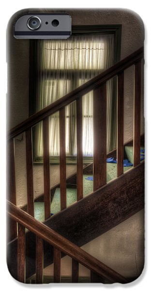 Haunted House Digital Art iPhone Cases - Window stairs iPhone Case by Nathan Wright