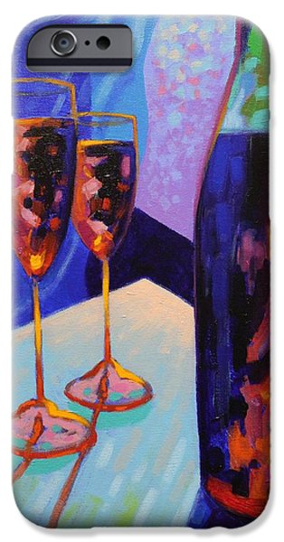 Wine Canvas Paintings iPhone Cases - Window Still Life iPhone Case by John  Nolan