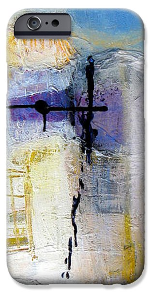 Abstractions iPhone Cases - Window Three iPhone Case by Beverly  Koski