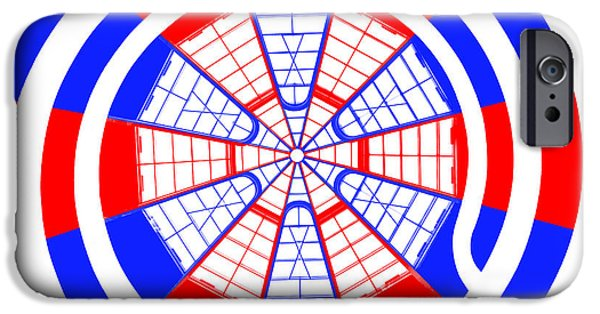 Stripes Digital Art iPhone Cases - Window To Another World Kaleidoscope iPhone Case by Az Jackson