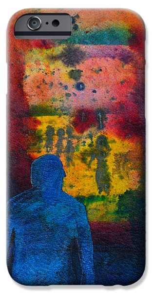 Cosmic Paintings iPhone Cases - Window To The Other Side iPhone Case by Donna Blackhall
