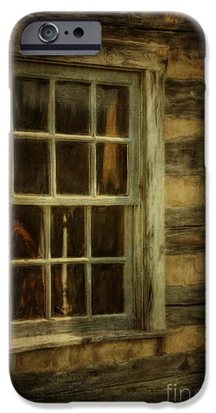 Cabin Window iPhone Cases - Window To The Past iPhone Case by Lois Bryan