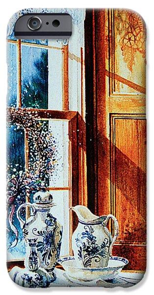 Window Of Life iPhone Cases - Window Treasures iPhone Case by Hanne Lore Koehler