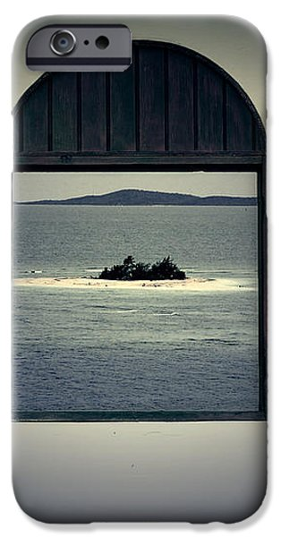 Window View of Desert Island Puerto Rico Prints Lomography iPhone Case by Shawn O'Brien