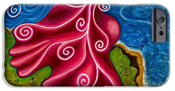 Merging Paintings iPhone Cases - Winds of Change iPhone Case by Annette Wagner
