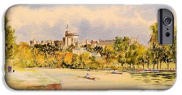 St Elizabeth iPhone Cases - Windsor Castle and Thames iPhone Case by Bill Holkham