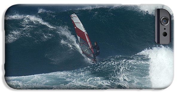 Windsurfer iPhone Cases - Windsurfer 2 Maui iPhone Case by Bob Christopher
